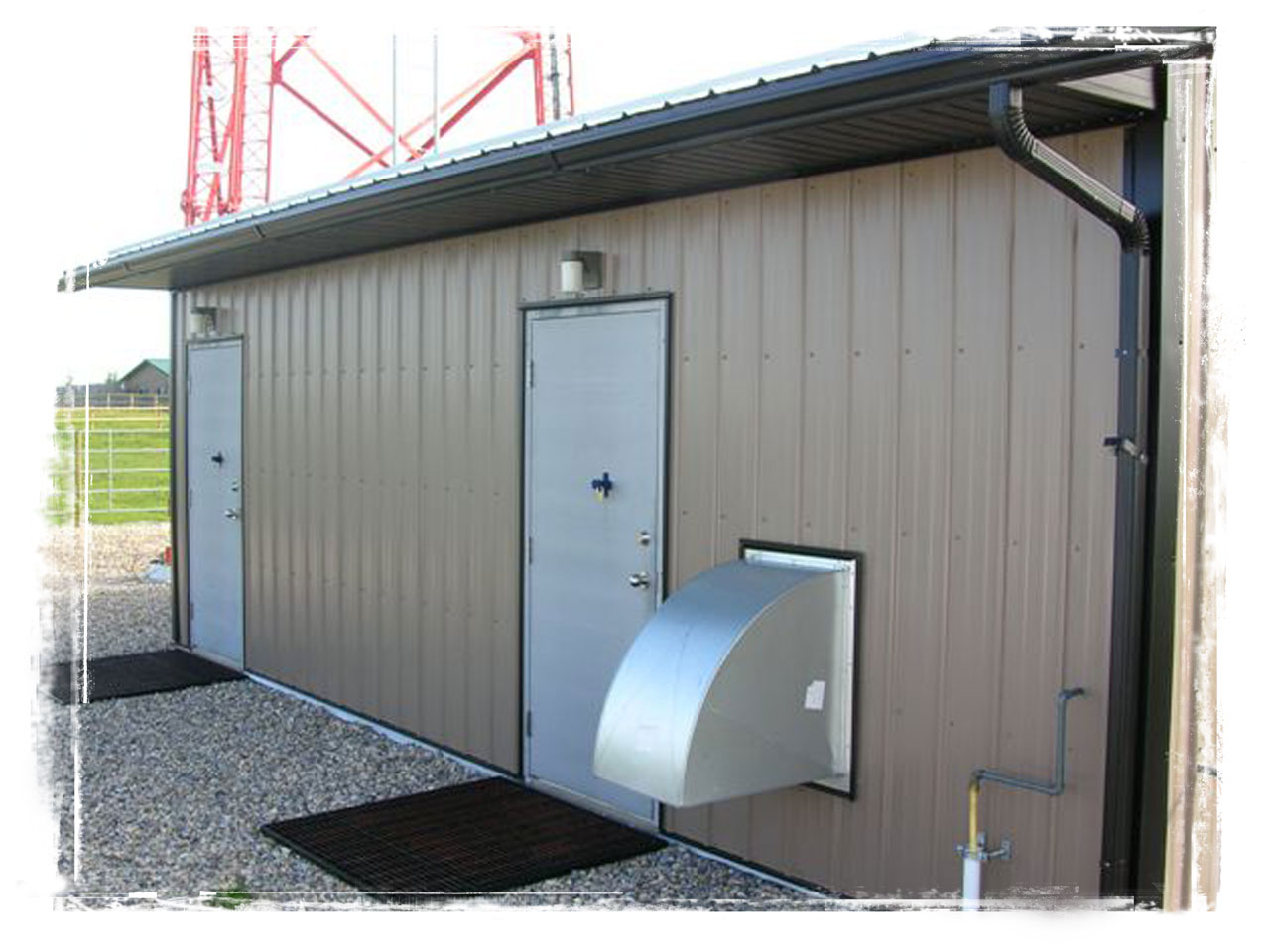 New commercial utility building in Cochrane